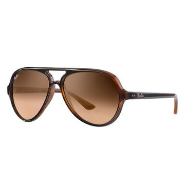 Ray-ban Cats 5000 Classic Blue Sunglasses, Pink Lenses - Rb4125