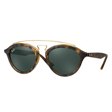 Ray-ban Women's Rb4257 Gatsby Ii Blue Sunglasses, Green Lenses