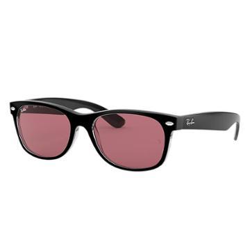 Ray-ban Men's New Wayfarer Black Sunglasses, Violet Lenses - Rb2132
