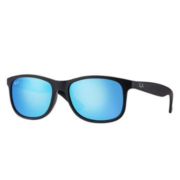 Ray-ban Andy Black Sunglasses, Blue Lenses - Rb4202