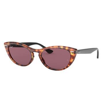 Ray-ban Nina Black Sunglasses, Violet Lenses - Rb4314n