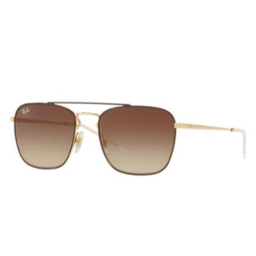 Ray-ban Men's Gold Sunglasses, Brown Lenses - Rb3588