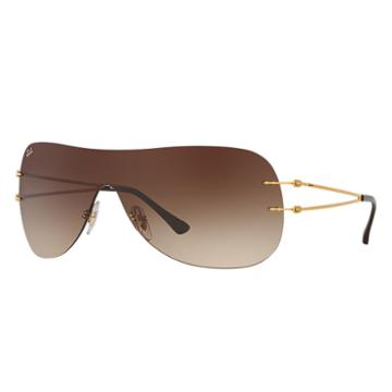 Ray-ban Gold Sunglasses, Brown Lenses - Rb8057