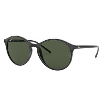 Ray-ban Black Sunglasses, Green Lenses - Rb4371