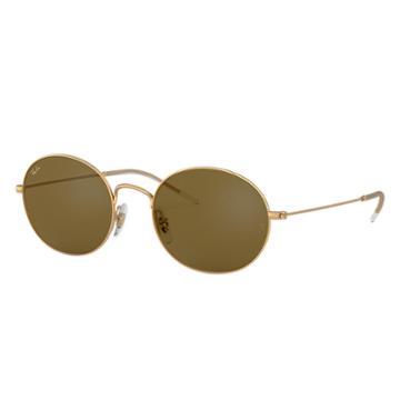 Ray-ban Ray-ban Beat Gold Sunglasses, Brown Lenses - Rb3594