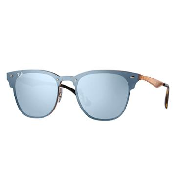 Ray-ban Blaze Clubmaster Copper Sunglasses, Blue Lenses - Rb3576n
