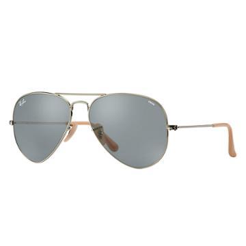 Ray-ban Men's Aviator Evolve Silver Sunglasses, Blue Lenses - Rb3025