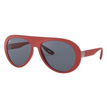 Ray-ban Scuderia Ferrari Uk Limited Edition Red Sunglasses, Gray Lenses - Rb4310m