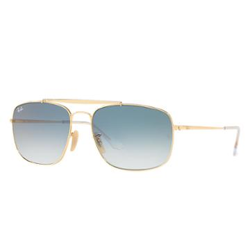 Ray-ban Colonel Gold Sunglasses, Blue Lenses - Rb3560