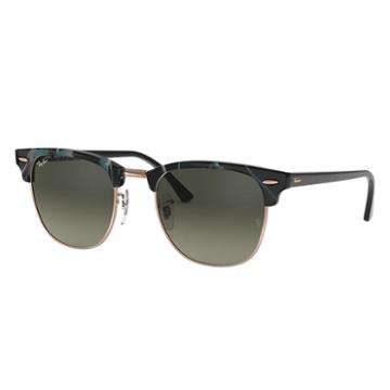 Ray-ban Men's Clubmaster Fleck Black Sunglasses, Gray Lenses - Rb3016