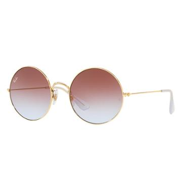 Ray-ban Ja-jo Gold Sunglasses, Violet Lenses - Rb3592