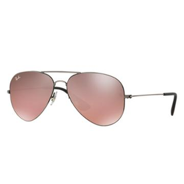Ray-ban Black Sunglasses, Violet Lenses - Rb3558