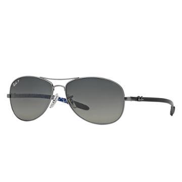 Ray-ban Men's Grey Sunglasses, Polarized Blue Lenses - Rb8301