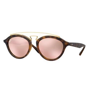 Ray-ban Women's Gatsby Ii Tortoise Sunglasses, Pink Lenses - Rb4257