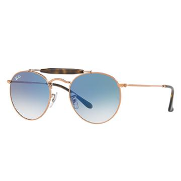 Ray-ban Copper Sunglasses, Blue Lenses - Rb3747