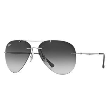 Ray-ban Aviator Light Ray Grey Sunglasses, Gray Lenses - Rb8055