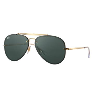 Ray-ban Blaze Aviator Gold Sunglasses, Green Lenses - Rb3584n