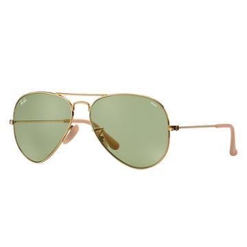 Ray-ban Men's Aviator Evolve Gold Sunglasses, Green Lenses - Rb3025
