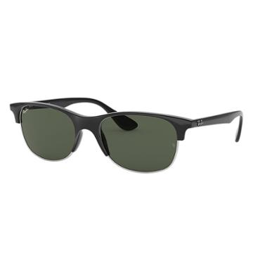 Ray-ban Black Sunglasses, Green Lenses - Rb4319