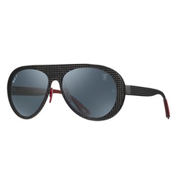 Ray-ban Scuderia Ferrari Italy Limited Edition Gunmetal Sunglasses, Polarized Blue Lenses - Rb8321m