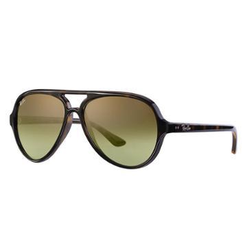 Ray-ban Cats 5000 Classic Blue Sunglasses, Green Lenses - Rb4125