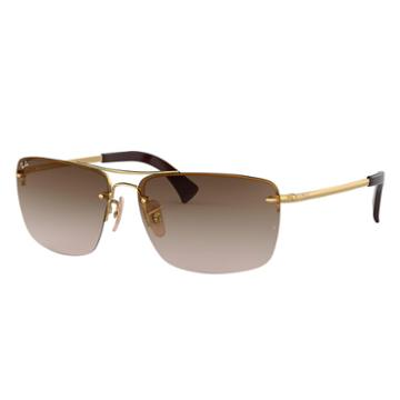 Ray-ban Gold Sunglasses, Brown Lenses - Rb3607
