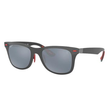Ray-ban Scuderia Ferrari Monaco Limited Edition Gunmetal Sunglasses, Polarized Blue Lenses - Rb8395m
