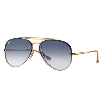 Ray-ban Blaze Aviator Gold Sunglasses, Blue Lenses - Rb3584n