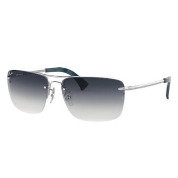 Ray-ban Silver Sunglasses, Blue Lenses - Rb3607