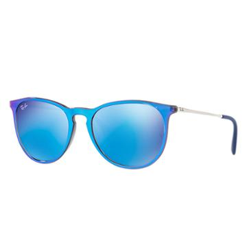 Ray-ban Women's Erika Classic Silver Sunglasses, Blue Lenses - Rb4171