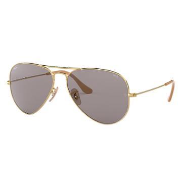 Ray-ban Men's Aviator Evolve Gold Sunglasses, Gray Lenses - Rb3025