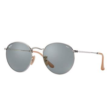 Ray-ban Men's Round Evolve Silver Sunglasses, Blue Lenses - Rb3447