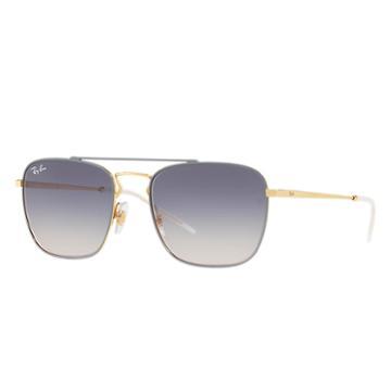 Ray-ban Men's Gold Sunglasses, Blue Lenses - Rb3588