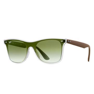 Ray-ban Blaze Wayfarer Green Sunglasses, Green Sunglasses Lenses - Rb4440n