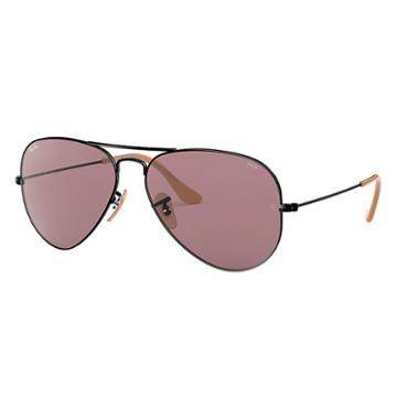 Ray-ban Men's Aviator Evolve Black Sunglasses, Violet Lenses - Rb3025