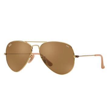 Ray-ban Men's Aviator Evolve Gold Sunglasses, Brown Lenses - Rb3025