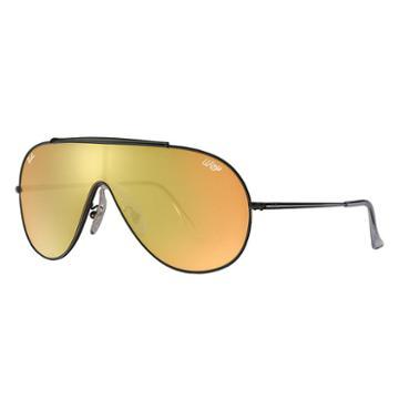 Ray-ban Wings Black Sunglasses, Orange Lenses - Rb3597