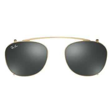 Ray-ban Rb6317 Clip-on Gold Sunglasses - Rb6317c