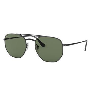 Ray-ban Black Sunglasses, Green Lenses - Rb3609