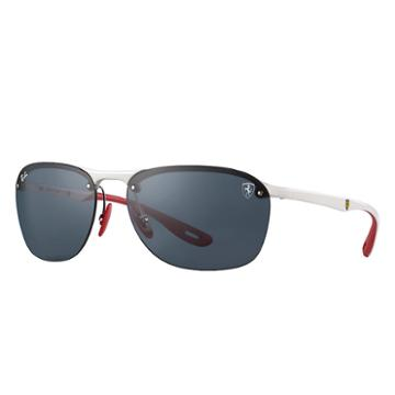 Ray-ban Scuderia Ferrari Collection White Sunglasses, Gray Lenses - Rb4302m