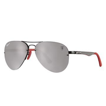 Ray-ban Scuderia Ferrari It Gp17 Ltd Silver Sunglasses, Polarized Gray Lenses - Rb3460m