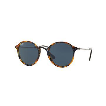 Ray-ban Round Fleck Gunmetal Sunglasses, Blue Lenses - Rb2447