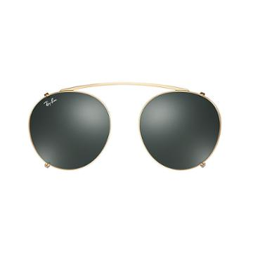 Ray-ban Round Fleck Clip-on Gold Sunglasses - Rb2447c
