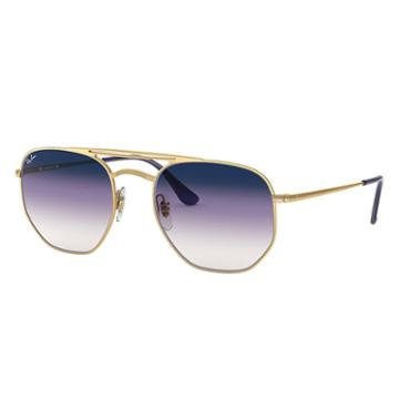 Ray-ban Gold Sunglasses, Violet Lenses - Rb3609