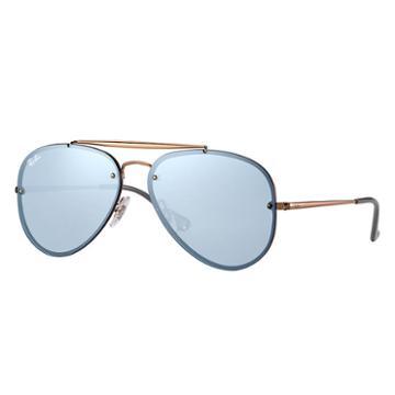 Ray-ban Blaze Aviator Copper Sunglasses, Blue Lenses - Rb3584n