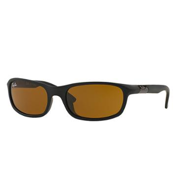 Ray-ban Rj9056s Junior Black Sunglasses, Brown Lenses - Rb9056s