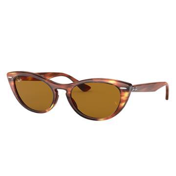 Ray-ban Nina Tortoise Sunglasses, Brown Lenses - Rb4314n