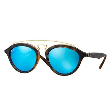 Ray-ban Women's Rb4257 Gatsby Ii Tortoise Sunglasses, Blue Lenses