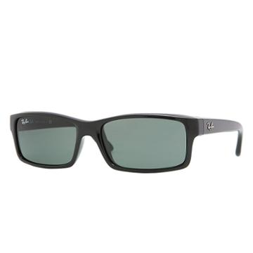 Ray-ban Men's Black Sunglasses, Green Lenses - Rb4151