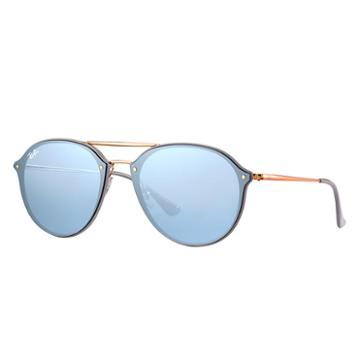 Ray-ban Men's Blaze Double Bridge Copper Sunglasses, Violet Lenses - Rb4292n